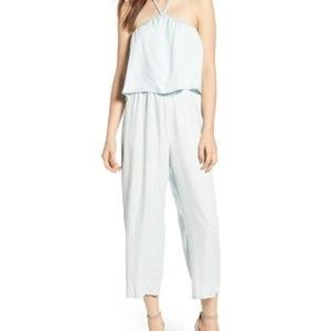 Cupcakes and Cashmere Chambray Jumpsuit Sm. NWT